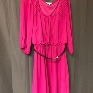 Speechless Size Large, 3/4 sleeve, belted dress